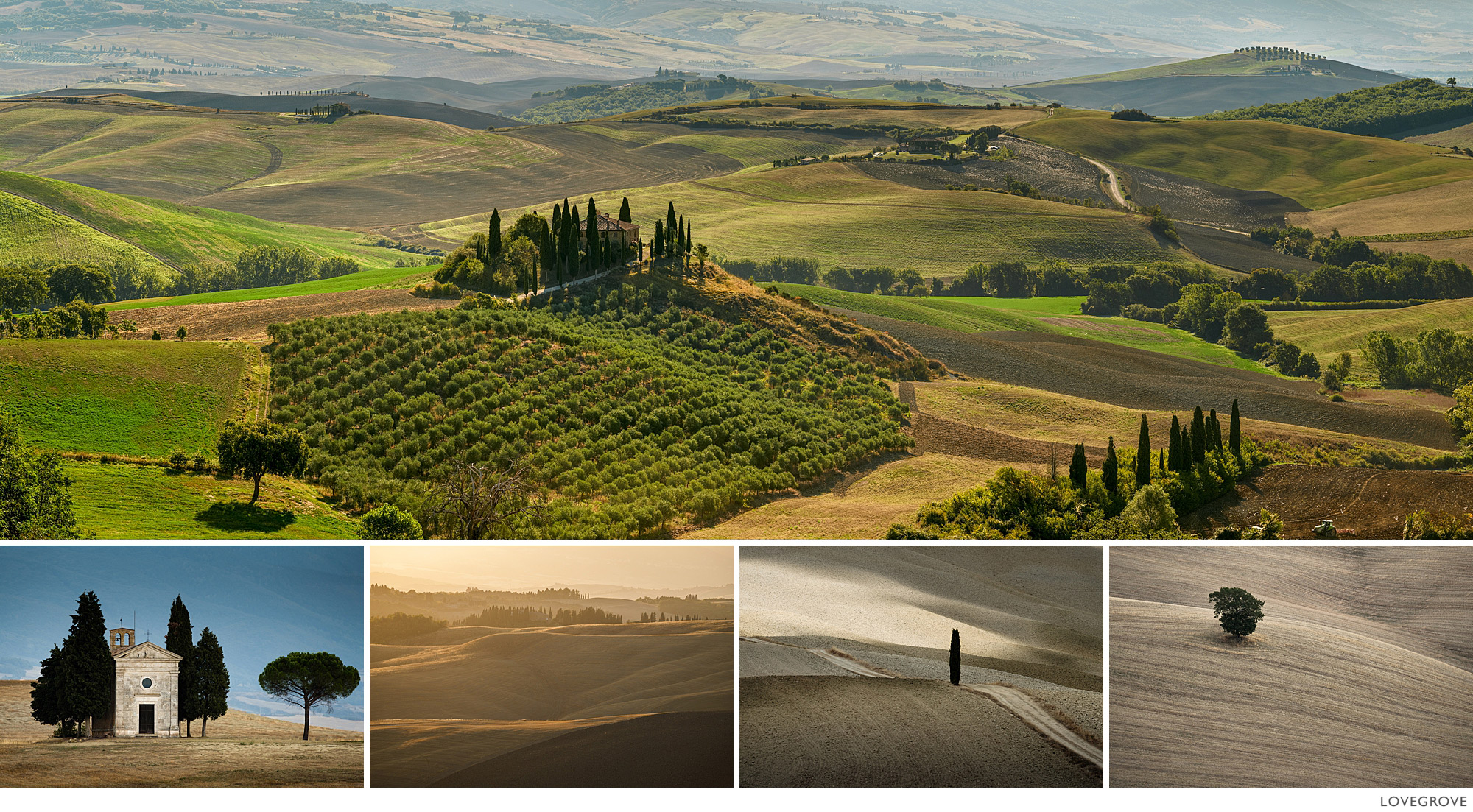 The countryside around Pienza.