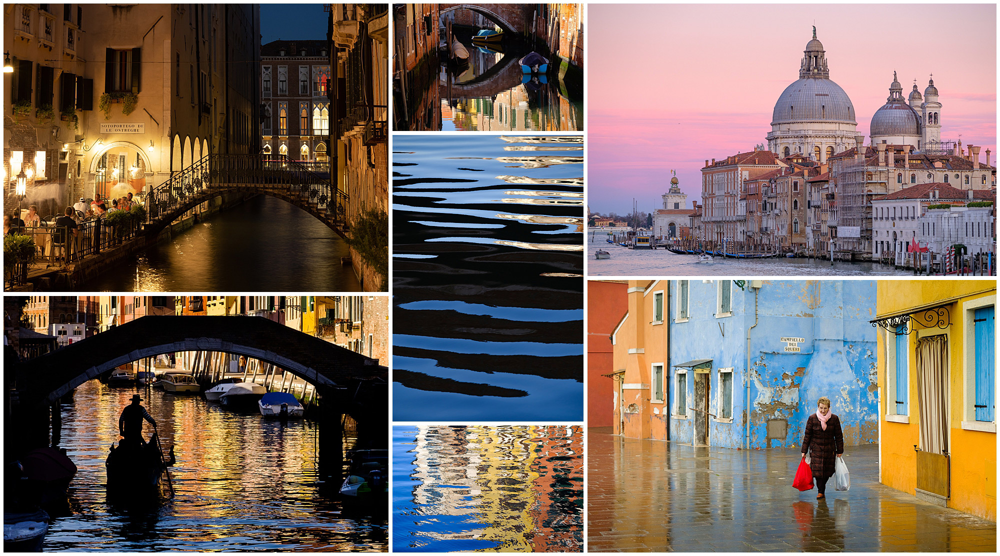 7 images taken on a street portraits workshop in venice