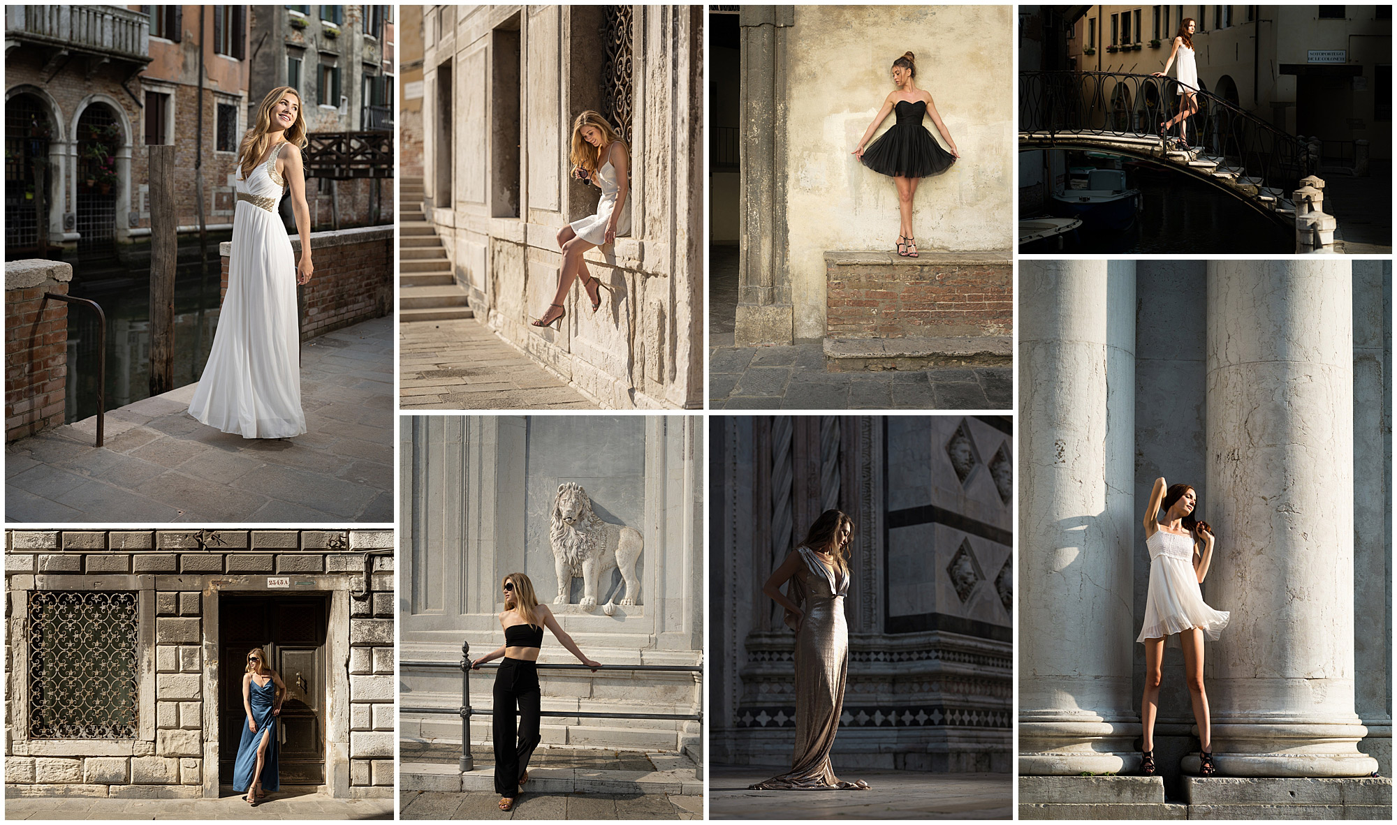 a collection of images taken on a street portraits workshop in venice