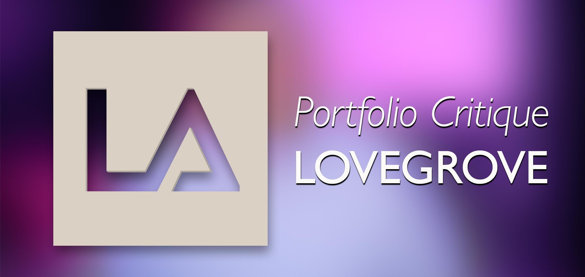 Portfolio critiques by Damien Lovegrove