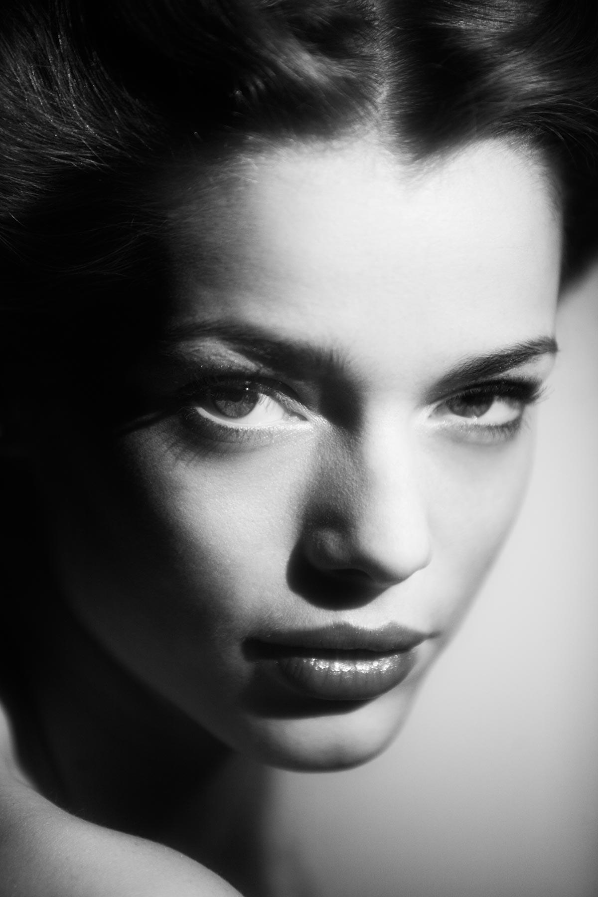 Lora Brisland in the Lovegrove Studio Black and White