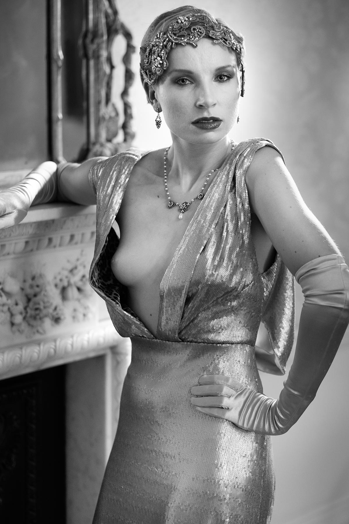 Mina Renoir dress slip at Clifton Hill House - Monochrome